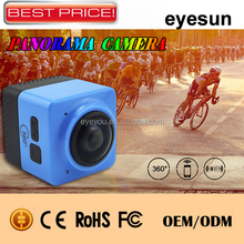 Cheap 360 Degree Full View Action Camera Full HD Resolution WiFi Waterproof