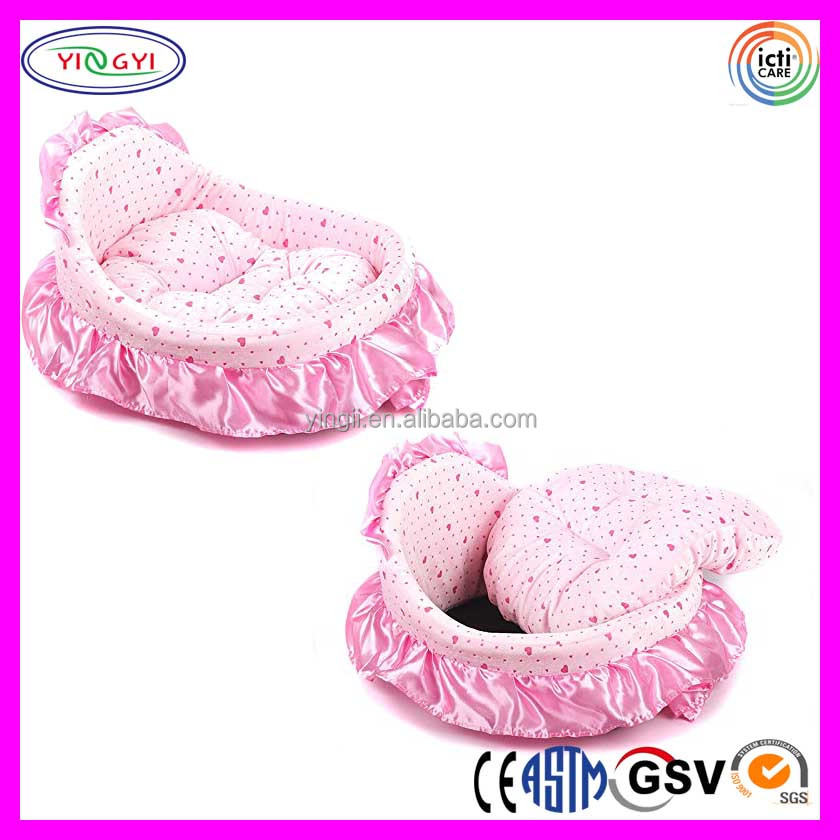 B779 New Soft Cozy Color Flowers Princess Lace Pet Bed Dog Puppy Cat Princess Pet Bed