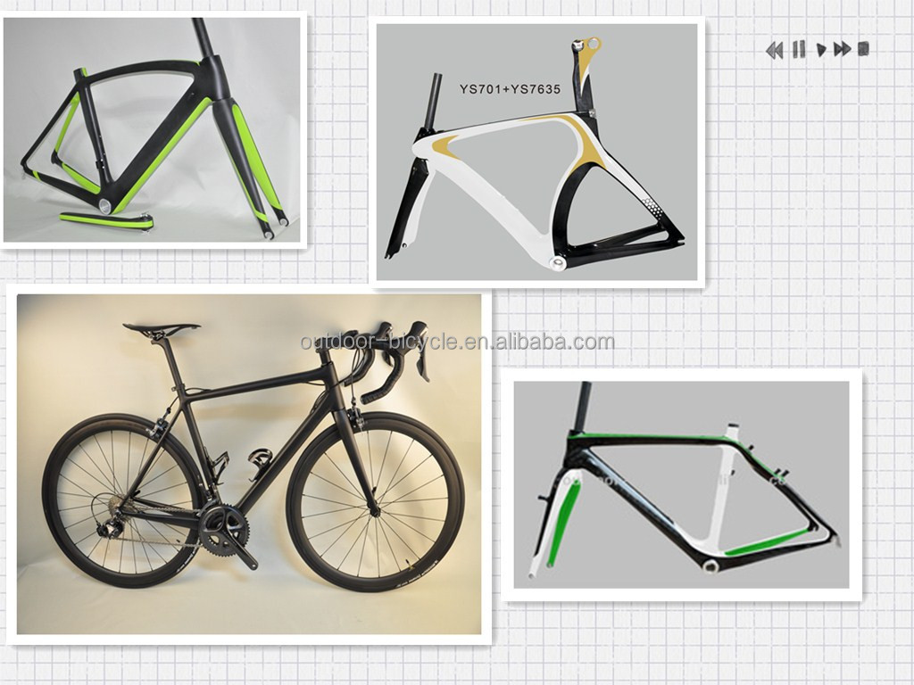 2014 hot sale !!! Full carbon bike parts track frame toray carbon bicycleframe FM016 for sale