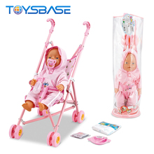 Lovely Will Cry, Will Urinate 16 Inch Doll Baby Reborn Toys Babies Trolly