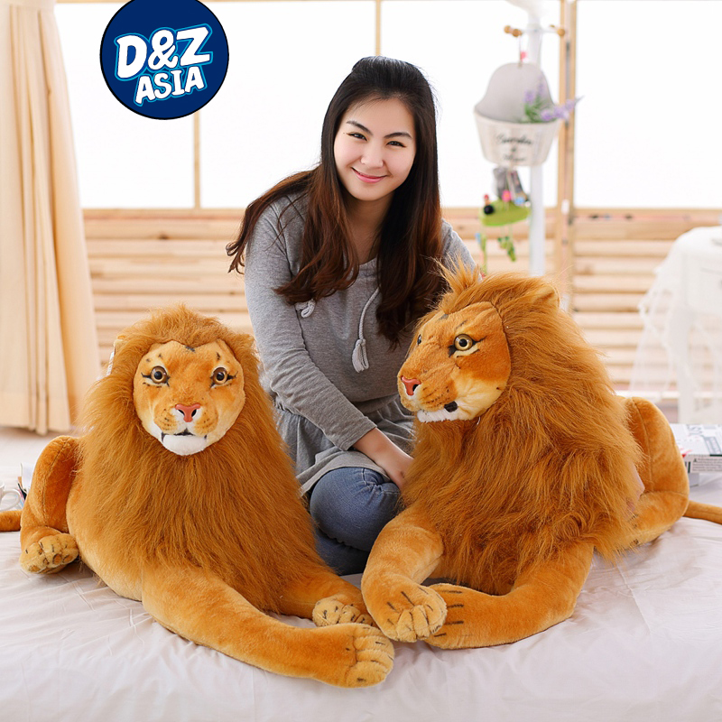 Simulation lion plush toys creative dolls giant stuffed <strong>animals</strong>