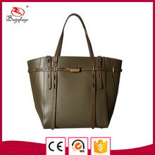 MD 8140 Alibaba Chile style totes dark green plain real leather handbag