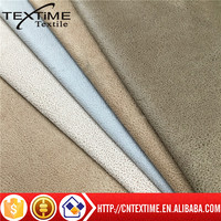 100%POLYESTER WARP SUEDE FABRIC FOR SOFA of factory