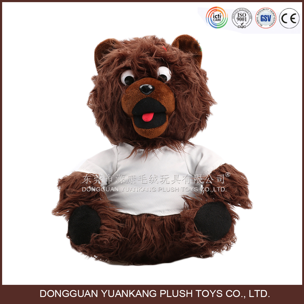 Hot selling personalized black teddy bear dog with t-shirt