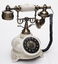 old fashion wooden telephone model Resin phones