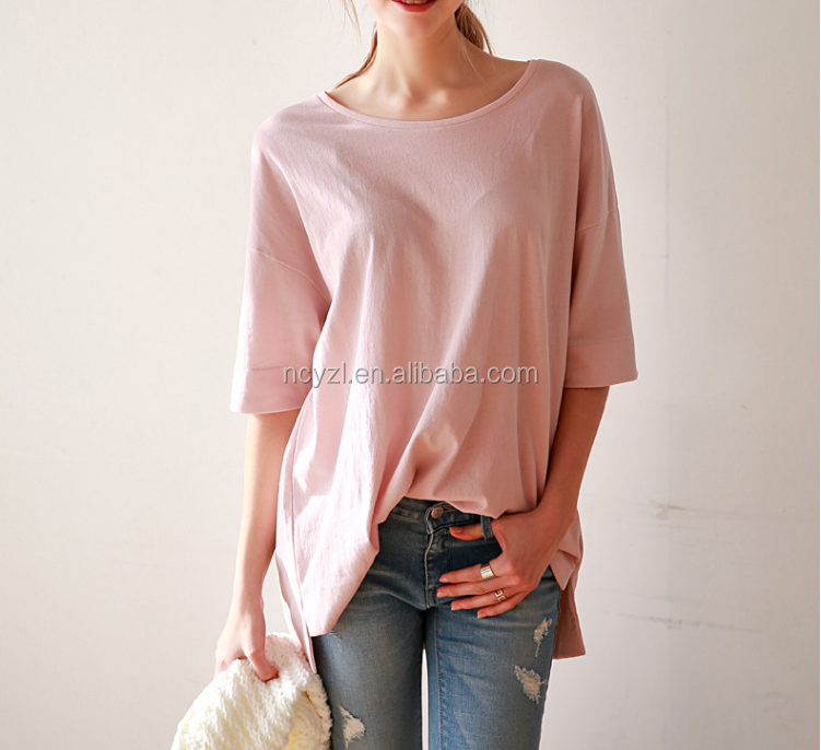 custom wholesale fashion sunshine women simple blank T-shirt/tee