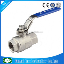 2pc cf8m stainless steel anti blow-out stem 1 inch ball valve pn64