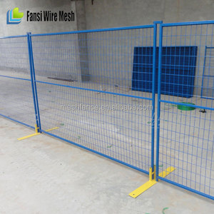 Cost effective Yellow powder coated Temporary Fence
