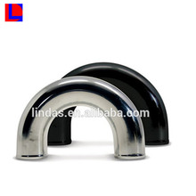 Shinny anodized extrusion pipe custom 180 degree aluminum pipe bend