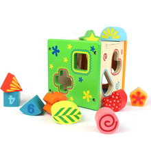 2018 New Cheap Educational Toys For Kids Wood Toy Cognition Small Toy Wooden House
