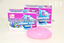 High quality Lavender essential oil beauty care cleansing herbal soap