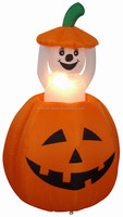 120cm/4ft air blown pumpkin and white ghost for halloween inflatable,the ghost can do up and down activities