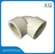 Heavy duty PVC-U sanitary pipe fittings equal elbow/male female threaded pvc fittings 90 degree elbow cheap price