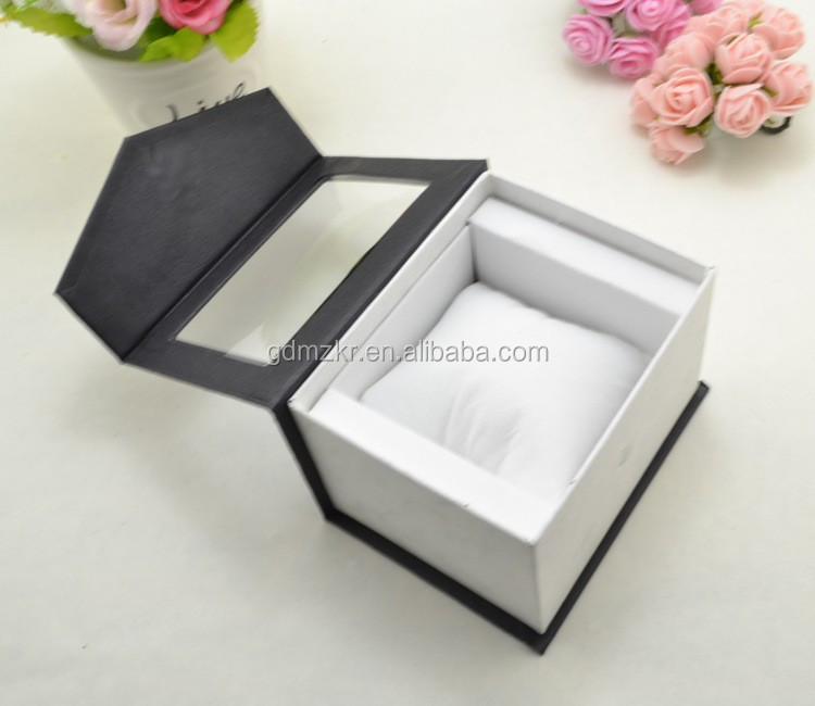 Personalized design magnet close display watch box with PVC window