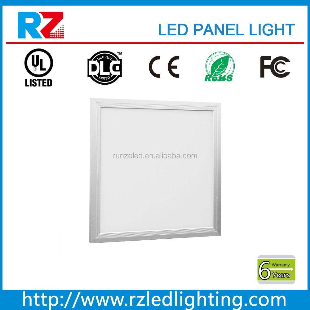 6 year warranty 130lm/W high quality UL approved panel led light 2'*2'