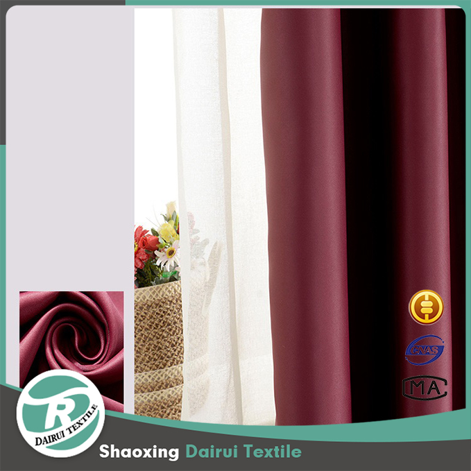 Unique Dubai office meeting room window solid blackout curtain fabric