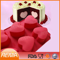 rubber baking making a shaped bakeware cake mould pan 100% safe heart silicone molds