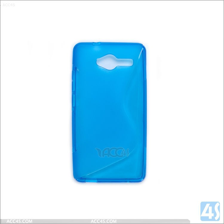 Wholesale Slim TPU gel S Type case cover for ZTE Blade L3