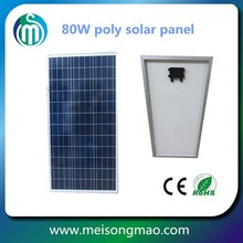 Cheapest price Sunrise pv solar panels poly photovoltaic modules 80W 12V for home power energy