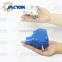 High Torque Small Sizes JTA20 Aluminum Right Angle 90 Degree Speed Reducer Double Shaft Output Gearbox
