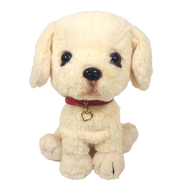 Life-size premium qulity choice large stuffed white dog animal wholesales