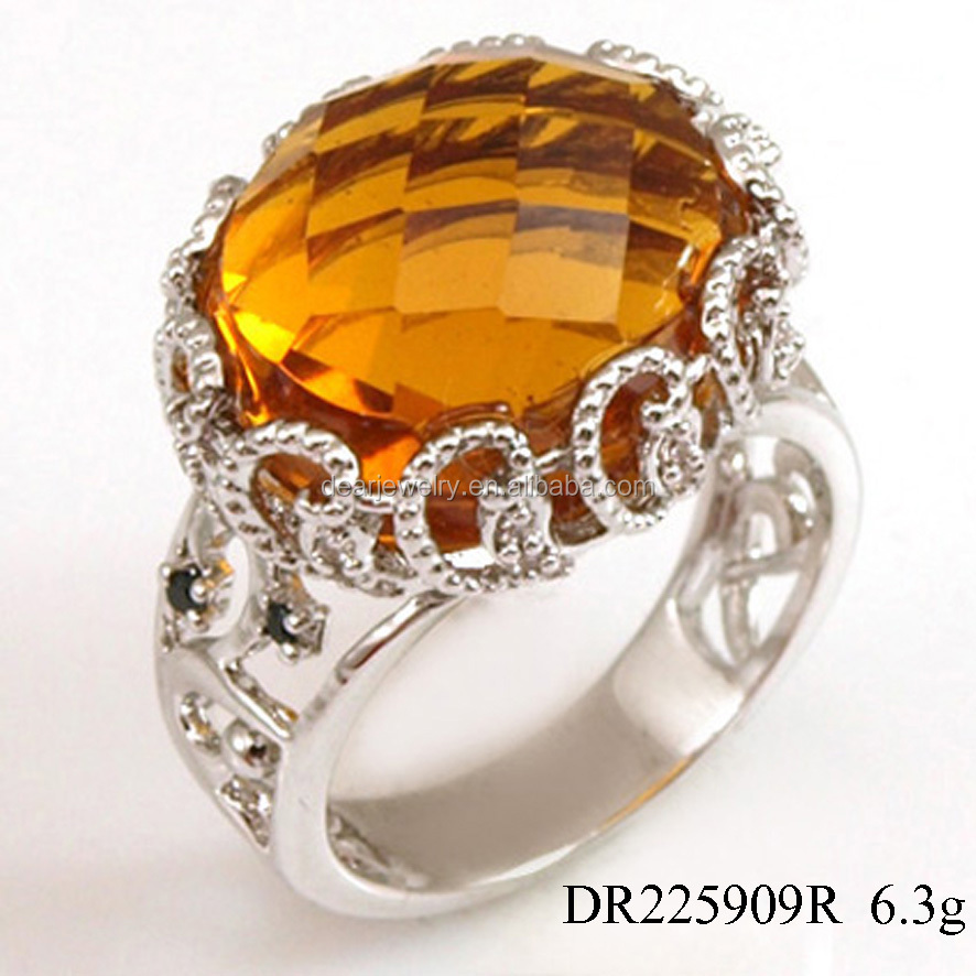 Jewelry Ordering Champagne Zircon Rings Finger Accessory