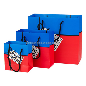 2016 New Design Shopping Paper Hand Bag/Whiteboard & Ivory Board Paper Bag With Handle