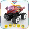 High quality plastic material toy motorcycles with candy container