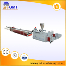 Different material extruder pe wood plastic profile extrusion line
