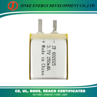 High capacity battery super quality rechargeable battery li-ion battery 602025 250mah