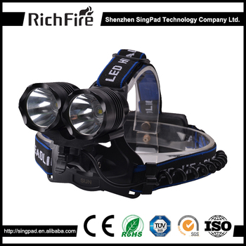 Professional 800 lumens high power light headlamp led for camping