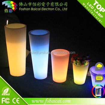 plastic led light flower pot ,Waterproof IP54 led flower pot with remote control