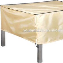 Outdoor table furniture cover fabric custom PU coating waterproof woven plain fabric