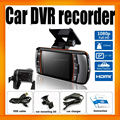 Allwinner 9712 cameras G-Sensor Night Vision FHD 1080P Car DVR Dual camera
