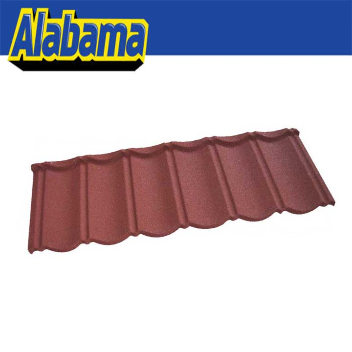 Good fire resistance ridge cap tile stone coated metal roof tile, villa stone steel roofing tile