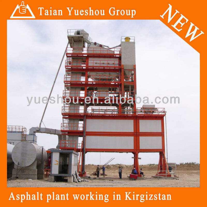 Asphalt mixing plant LB2000,Reputable YUESHOU bituminous batching plant 160 t/h in Russian,Hot sell of LB2000 in Russian