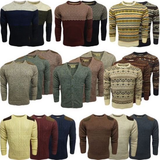 Laundry Jumper Mens Knitwear Fair Isle Aztec Cardigan Knit V Neck Sweater New Acrylic Crew Neck Long Sleeve sweater