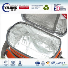 Double sided insulation foil material for lunch box materials
