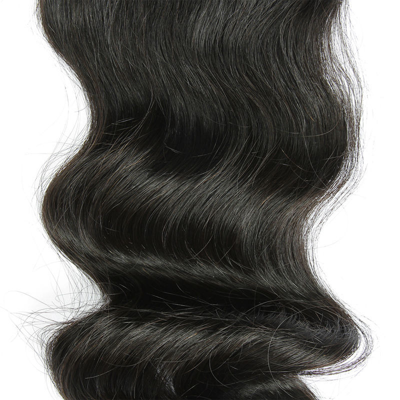 XBL Hair 8A grade virgin human loose wave hair extensions Lace closure
