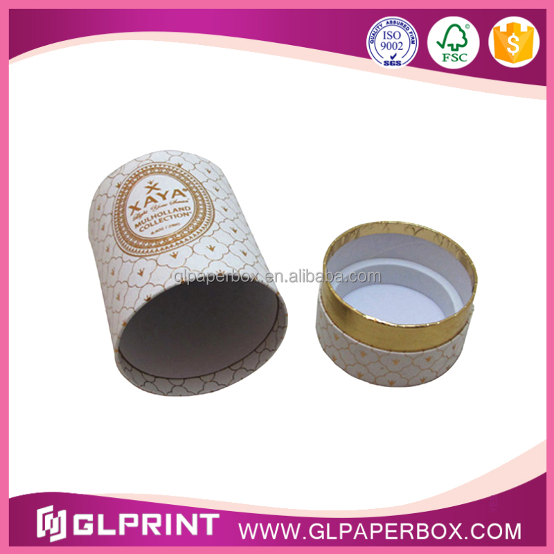 small paper tube cylinder gift box for perfume / candle/ fragrance