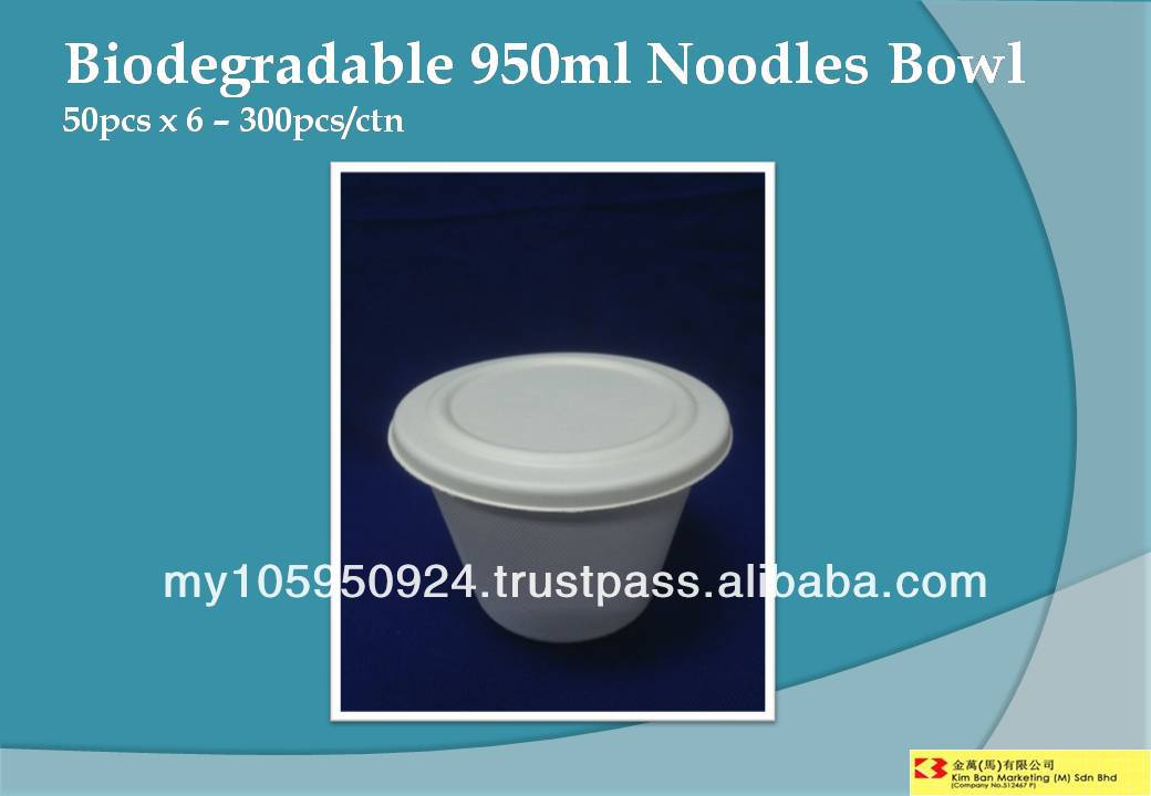 Biodegradable 950ml Noodles Bowl