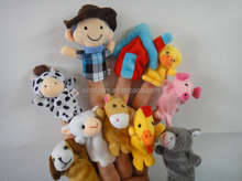 old macdonald had a farm nursery rhyme theme 7 cm plush finger puppet 10 in 1 set small toy doll