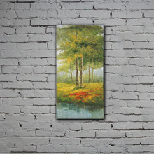 100% handmade painted 3 pieces scenery oil painting
