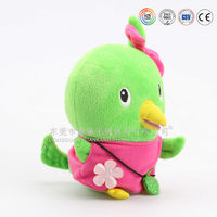pretty mini light green chicken stuffed plush toy for kids
