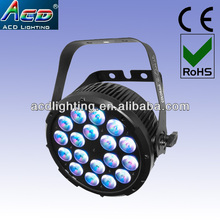 NEW 18*15w 5in1 RGBWA led stage par can, led studio par light,