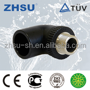 Plastic Pipe Fitting PE100/HDPE/PE Male Elbow for Water Supply