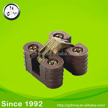 Iron plastic hinge brown color invisible cabinet hinge