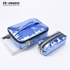 handy large capacity waterproof zipper holographic bags cosmetic bags