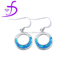 Middle east style hot sale blue opal earring Fashion jewelry design for party queen