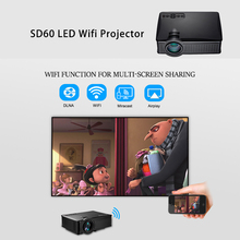 Factory Price Portable SD60 1500 Lumens Mini Led Projector Multi-screen Smartphone Home Theater Projector